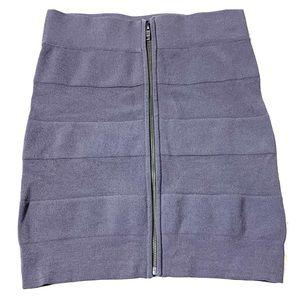 French Connection Zip Up Bandage Mini Skirt